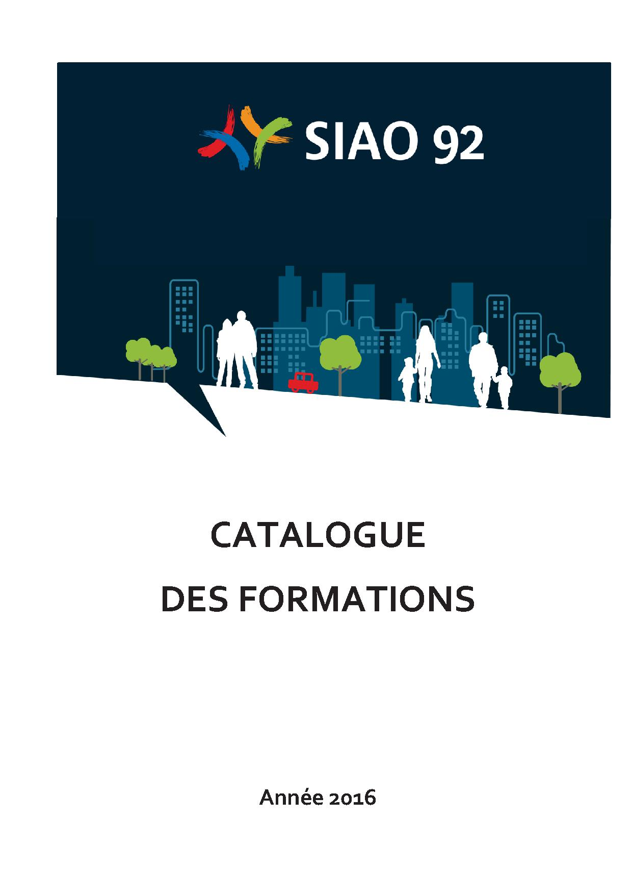 Catalogue formation 2016 - SIAO 92