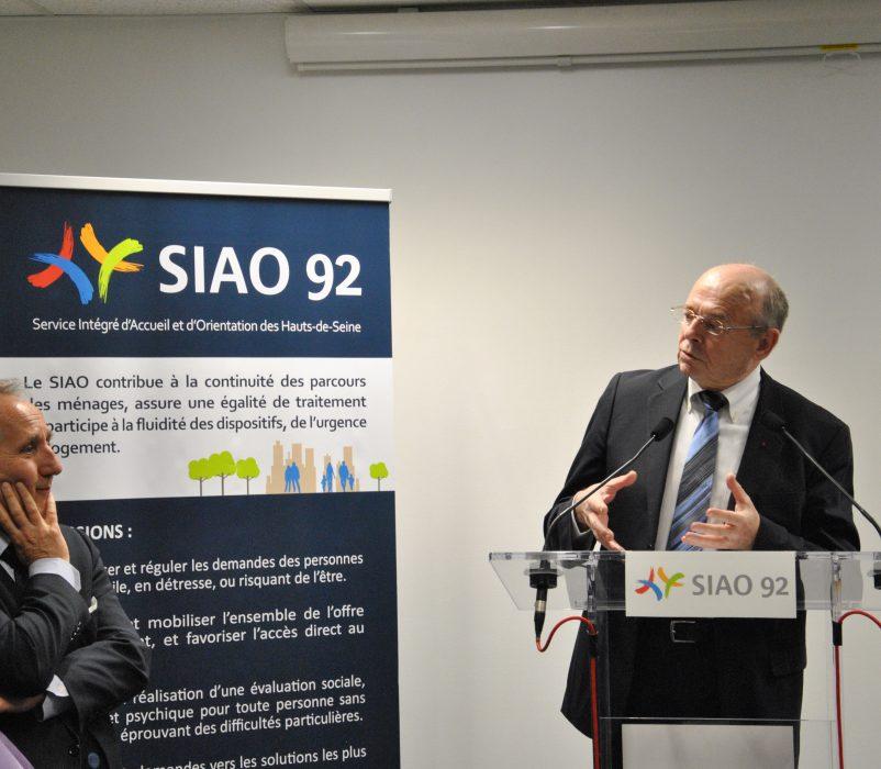 Pierre CARLI, Administrateur du GCSMS SIAO 92 et Patrick JARRY, Maire de Nanterre