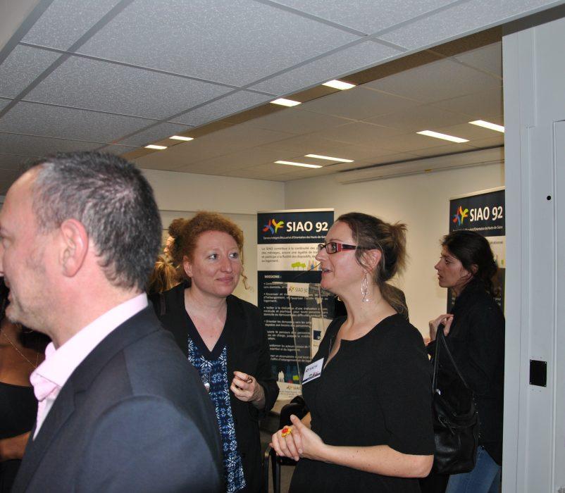 A droite : Nathalie ROYER, cheffe de service du Pôle Insertion