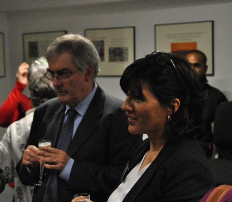 A gauche : Marc Berson, Responsable CAF 92 et Dana BORRAS, cheffe de service du Pôle Urgence