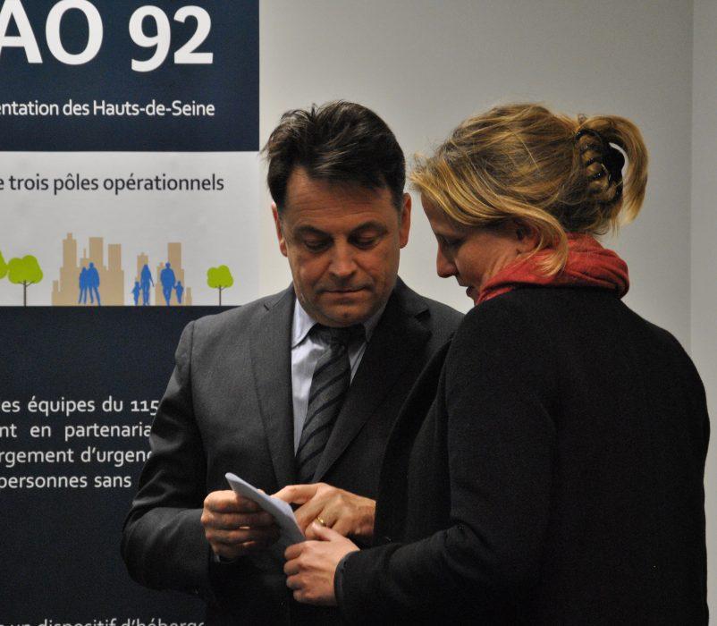 Psylvia DEWAS-TASSEAU, Directrice de la DRIHL UT-92 et Yann JOUNOT, Préfet des Hauts-de-Seine