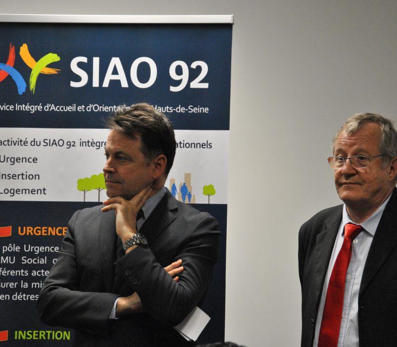 Yann JOUNOT, Préfet des Hauts-de-Seine et Philippe LEMAIRE, Directeur Général du GCSMS SIAO 92