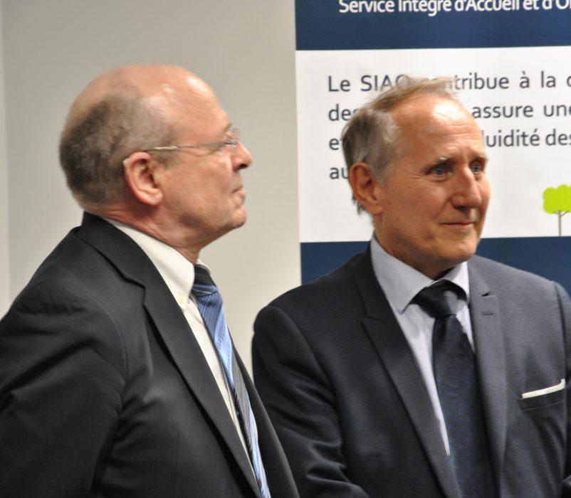 Pierre CARLI, Administrateur et Patrick JARRY, Maire de Nanterre